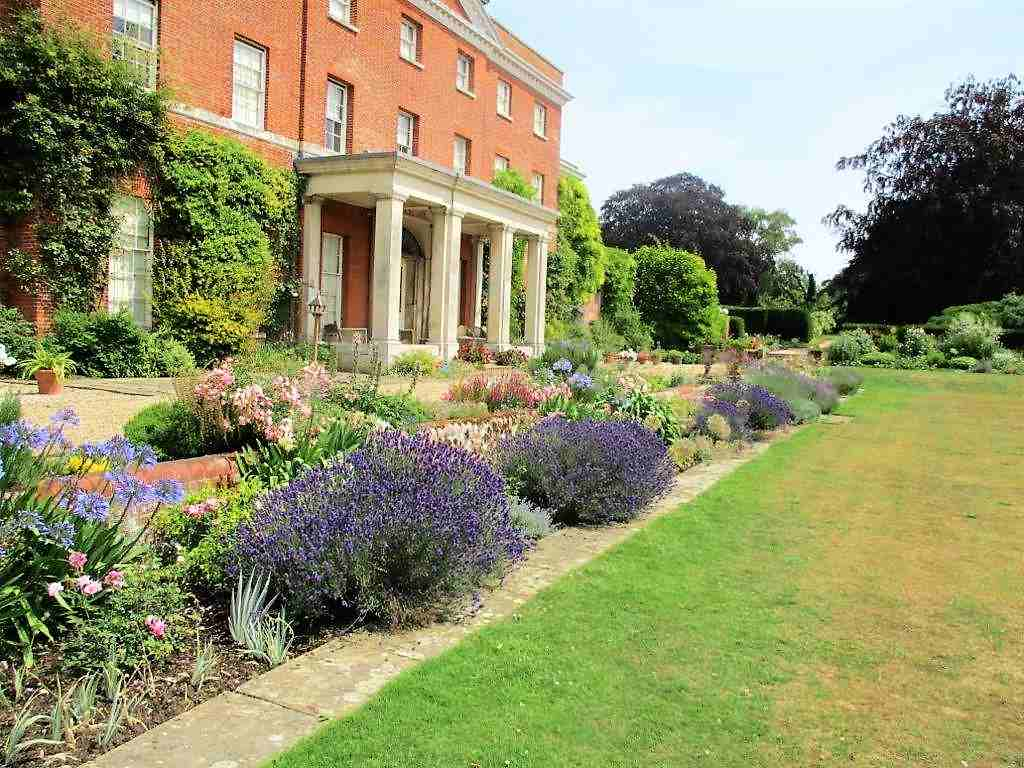 The southern herbaceous border of Raveningham Hall