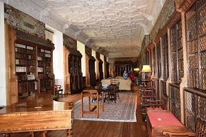 large library at blickling hall