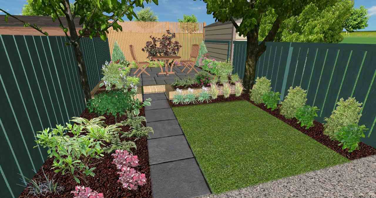 3D View of Norwich Garden Design