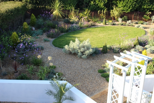 Aerial View of Mediterranean Garden in North Norfolk