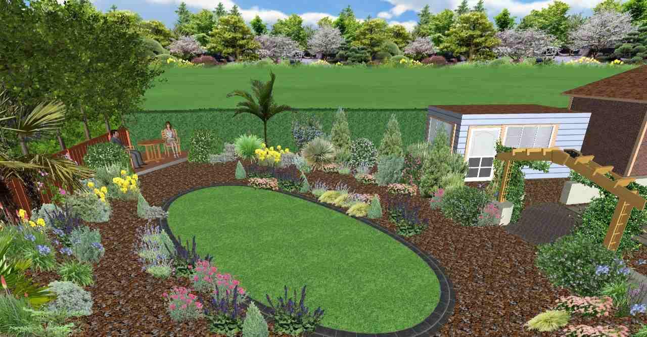 3D Mediterranean Garden Design