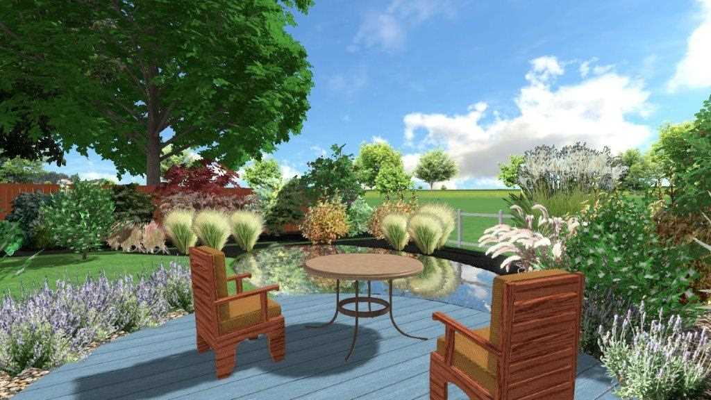 Viewport of 3D garden design, Richard Walters Garden Design