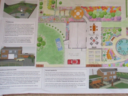 Garden design plan for a large Norwich garden